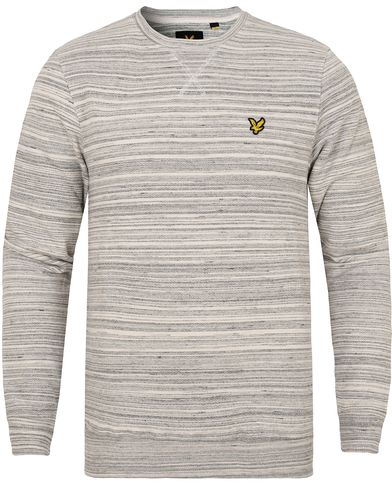 Lyle & Scott Space Dye Sweatshirt Mid Grey Marl i gruppen Gensere / Sweatshirts hos Care of Carl (13266811r)