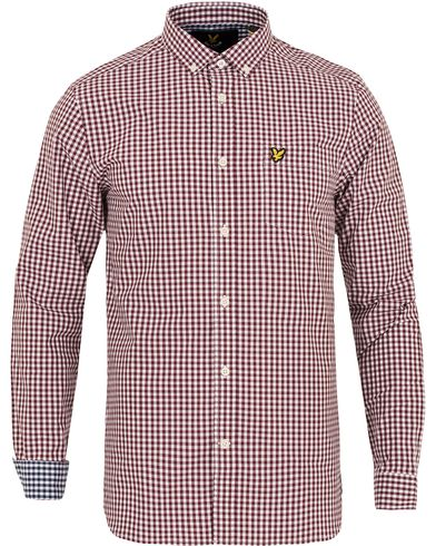 Lyle & Scott Gingham Check Shirt Clariet Jug i gruppen Kläder / Skjortor / Casual skjortor hos Care of Carl (13267111r)