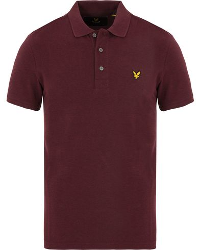 Lyle & Scott Plain Pique Polo Shirt Claret Marl i gruppen Klær / Pikéer / Kortermet piké hos Care of Carl (13267911r)