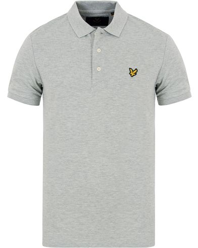 Lyle & Scott Plain Pique Polo Shirt Light Green Marl i gruppen Pikéer / Kortärmade pikéer hos Care of Carl (13268011r)