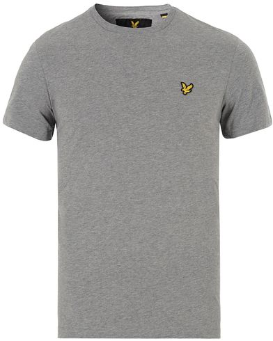 Lyle & Scott Plain Crew Neck Tee Mid Grey Marl i gruppen Kläder / T-Shirts / Kortärmade t-shirts hos Care of Carl (13268311r)