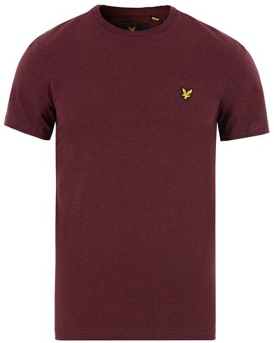 Lyle & Scott Plain Crew Neck Tee Claret Marl i gruppen T-Shirts / Kortermede t-shirts hos Care of Carl (13268511r)
