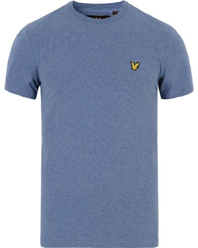 Lyle & Scott Plain Crew Neck Tee Dark Indigo Marl i gruppen T-Shirts / Kortärmade t-shirts hos Care of Carl (13268711r)