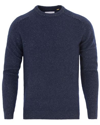 Lyle & Scott London Collection Brushed Jump Silk Jumper Navy i gruppen Tröjor / Stickade tröjor hos Care of Carl (13269611r)
