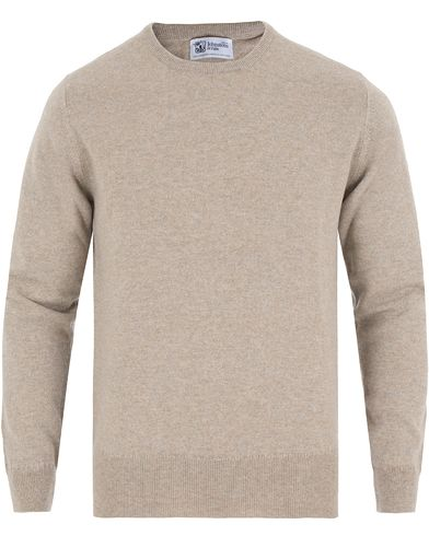Johnstons of Elgin Cashmere Crew Neck Beige i gruppen Tröjor / Pullovers / Rundhalsade pullovers hos Care of Carl (13270711r)