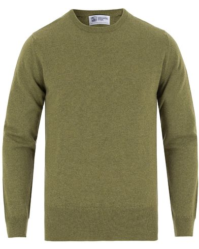 Johnstons of Elgin Cashmere Crew Neck Green i gruppen Gensere / Pullover / Pullovere rund hals hos Care of Carl (13270811r)