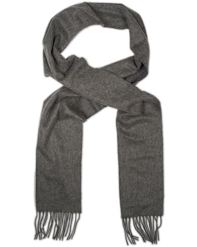 Johnstons of Elgin Cashmere Plain Scarf Dark Grey  i gruppen Design A / Accessoarer / Halsdukar hos Care of Carl (13271110)