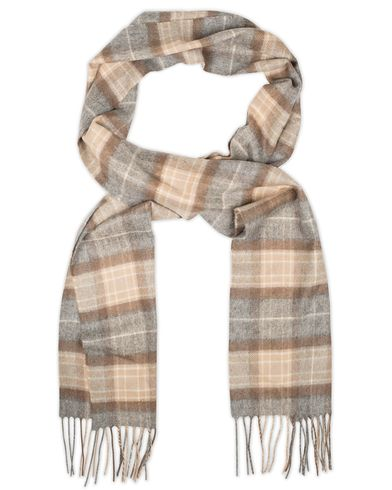 Johnstons of Elgin Cashmere Check Scarf Mackellar Grey/Beige  i gruppen Assesoarer / Skjerf hos Care of Carl (13271410)
