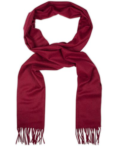 Johnstons of Elgin Cashmere Plain Scarf Bordeux Red  i gruppen Accessoarer / Halsdukar hos Care of Carl (13271510)