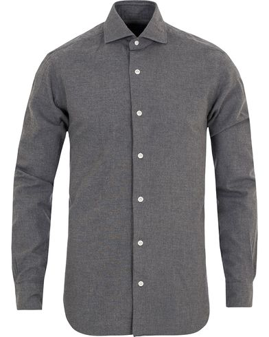 Barba Napoli Dandylife Flannel Slim Fit Shirt Grey i gruppen Klær / Skjorter / Flanellskjorter hos Care of Carl (13272111r)