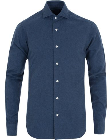 Barba Napoli Dandylife Flannel Slim Fit Shirt Dark Blue i gruppen Skjorter / Casual skjorter hos Care of Carl (13272211r)