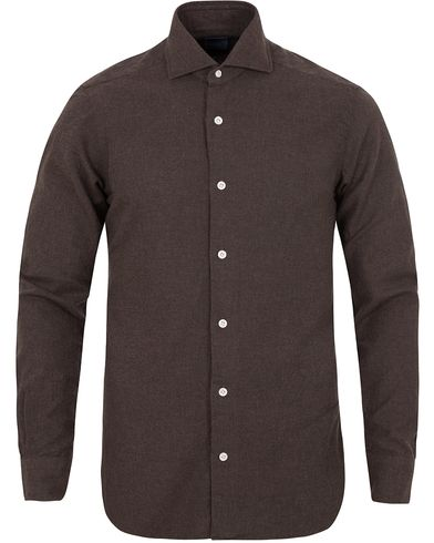 Barba Napoli Dandylife Flannel Slim Fit Shirt Brown i gruppen Skjorter / Flanellskjorter hos Care of Carl (13272311r)
