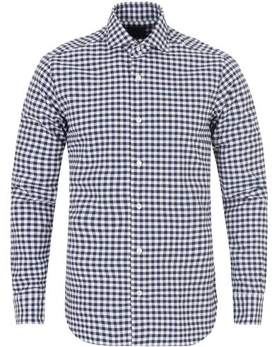 Barba Napoli Dandylife Oxford Check Slim Fit Shirt Blue/White i gruppen Skjortor / Casual Skjortor hos Care of Carl (13272811r)