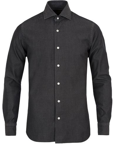 Barba Napoli Dandylife Denim Slim Fit Shirt Washed Black i gruppen Skjortor / Jeansskjortor hos Care of Carl (13273211r)