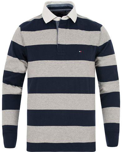 Tommy Hilfiger Block Stripe Rugby Navy Blazer i gruppen Kläder / Tröjor / Rugbytröjor hos Care of Carl (13275411r)