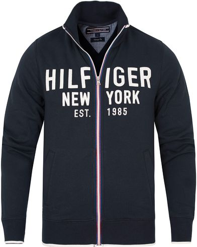 Tommy Hilfiger Nate Zip-Trough Sweater Navy Blazer i gruppen Tröjor / Zip-tröjor hos Care of Carl (13275511r)