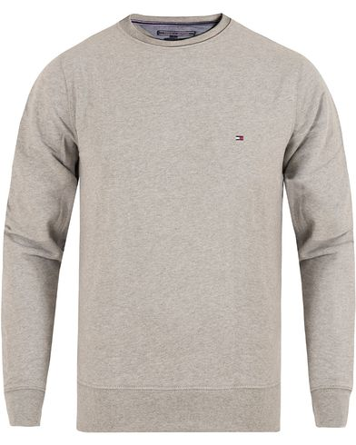 Tommy Hilfiger Basic Sweatshirt Light Grey Melange i gruppen Gensere / Sweatshirts hos Care of Carl (13275911r)