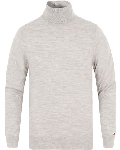 Tommy Hilfiger Premium Wool Rollneck Cloud Heather i gruppen Klær / Gensere / Pologensere hos Care of Carl (13276011r)