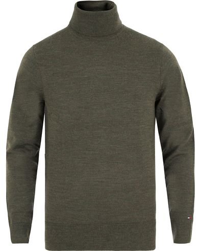 Tommy Hilfiger Premium Wool Rollneck Grape Leaf Heather i gruppen Design B / Kläder / Tröjor / Polotröjor hos Care of Carl (13276111r)