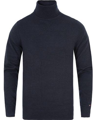 Tommy Hilfiger Premium Wool Rollneck Navy Blazer i gruppen Tröjor / Polotröjor hos Care of Carl (13276211r)