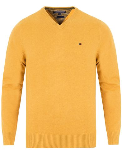 Tommy Hilfiger Pima Cotton/Cashmere V-Neck Pullover Arrow Wood Heather i gruppen Kläder / Tröjor / Pullovers / V-ringade pullovers hos Care of Carl (13276511r)