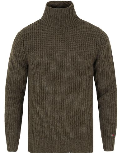 Tommy Hilfiger Fayo Knitted Rollneck Rosin Heather i gruppen Gensere / Pologensere hos Care of Carl (13276811r)