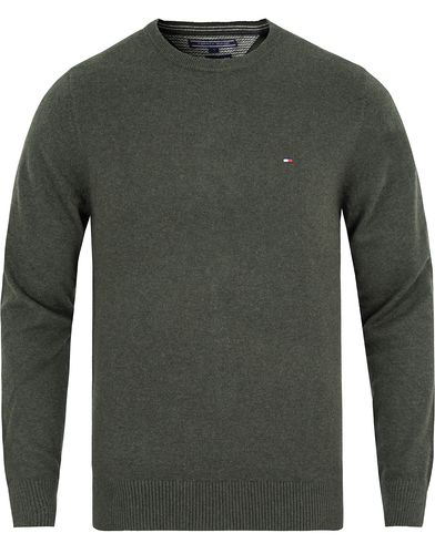 Tommy Hilfiger Pima Cotton/Cashmere Crewneck Pullover Rosin Heather i gruppen Tröjor / Pullovers / Rundhalsade pullovers hos Care of Carl (13277211r)