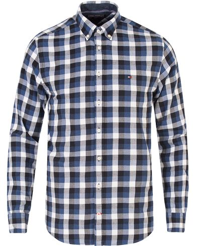 Tommy Hilfiger Multi Gingham New York Fit Shirt Blue Ribbon/Navy i gruppen Klær / Skjorter / Casual skjorter hos Care of Carl (13277611r)