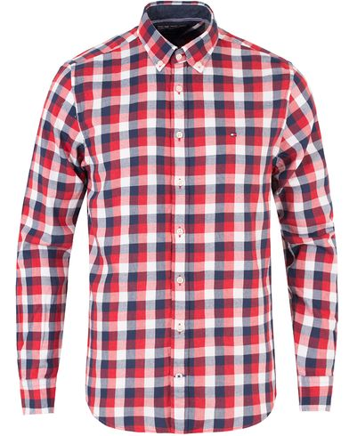 Tommy Hilfiger Multi Gingham Twill New York Fit Shirt Apple Red/Navy i gruppen Skjorter / Casual skjorter hos Care of Carl (13277811r)
