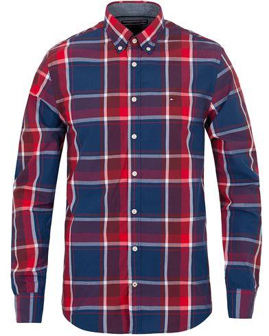 Tommy Hilfiger Birgen Large Check New York Fit Shirt Taawny Port/Navy i gruppen Skjorter / Casual skjorter hos Care of Carl (13277911r)