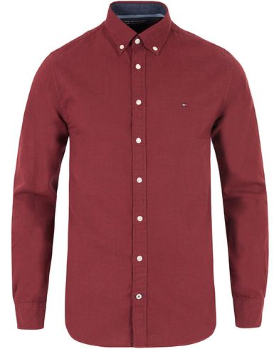 Tommy Hilfiger Light Flannel New York Fit Shirt Tawny Port i gruppen Kläder / Skjortor / Flanellskjortor hos Care of Carl (13278011r)