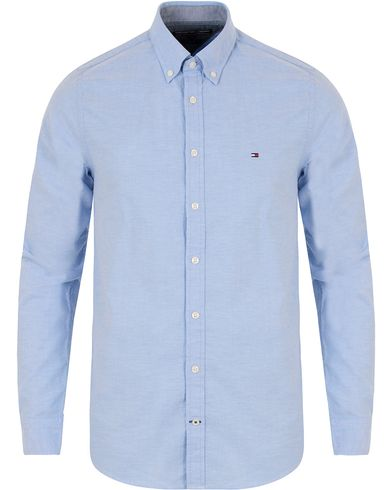 Tommy Hilfiger Oxford Stretch Slim Fit Shirt Blue i gruppen Kläder / Skjortor / Oxfordskjortor hos Care of Carl (13278311r)