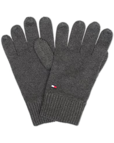 Tommy Hilfiger Pima Cotton/Cashmere Gloves Charcoal Heather  i gruppen Accessoarer / Handskar hos Care of Carl (13279410)