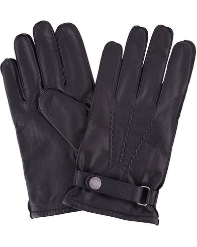 Tommy Hilfiger Ferron Leather Gloves Flag Black i gruppen Sesongens nøkkelplagg / Hanskene til spaserturen hos Care of Carl (13279511r)