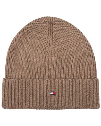 Tommy Hilfiger Pima Cotton/Cashmere Beanie Walnut Heather  i gruppen Assesoarer / Luer hos Care of Carl (13279710)