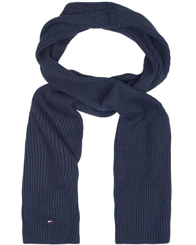 Tommy Hilfiger Pima Cotton/Cashmere Scarf Navy Blazer Heather  i gruppen Accessoarer / Halsdukar hos Care of Carl (13280210)