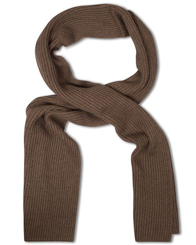 Tommy Hilfiger Pima Cotton/Cashmere Scarf Walnut Heather  i gruppen Assesoarer / Skjerf hos Care of Carl (13280310)