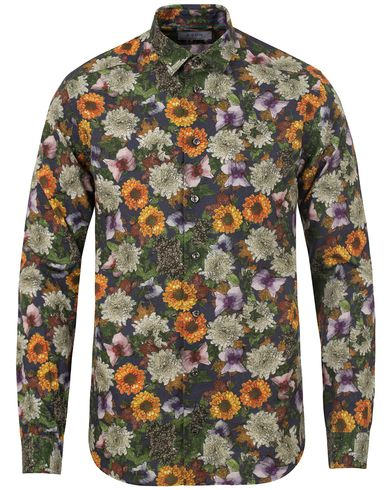 Eton Slim Fit Green Ribbon Flower Shirt Multi i gruppen Skjorter / Casual skjorter hos Care of Carl (13281211r)