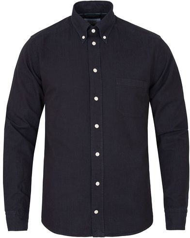 Eton Slim Fit Green Ribbon Shoreditch Indigo Shirt Dark Navy i gruppen Klær / Skjorter hos Care of Carl (13281311r)