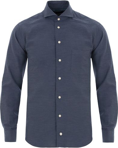 Eton Slim Fit Green Ribbon Flannel Shirt Dark Blue i gruppen Skjorter / Flanellskjorter hos Care of Carl (13281911r)