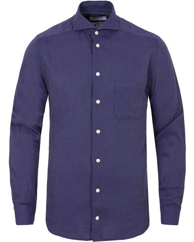 Eton Slim Fit Green Ribbon Flannel Shirt Purple i gruppen Skjorter / Casual Skjorter hos Care of Carl (13282011r)