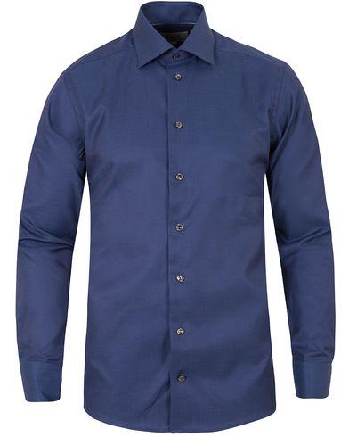 Eton Slim Fit Twill Dot Cut Away Shirt Dark Blue i gruppen Skjorter / Formelle skjorter hos Care of Carl (13282711r)