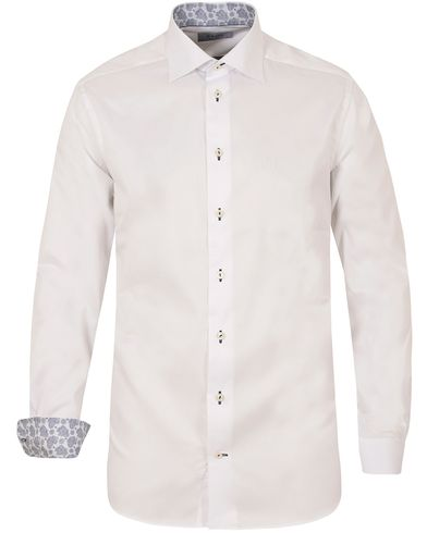 Eton Contemporary Fit Twill Contrast Shirt White i gruppen Skjorter / Businesskjorter hos Care of Carl (13283111r)