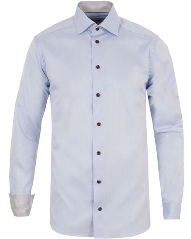 Eton Slim Fit Twill Contrast Shirt Light Blue i gruppen Skjortor / Formella skjortor hos Care of Carl (13283211r)