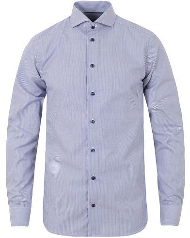 Eton Slim Fit Poplin Stripe Shirt Blue i gruppen Skjorter / Formelle skjorter hos Care of Carl (13283411r)