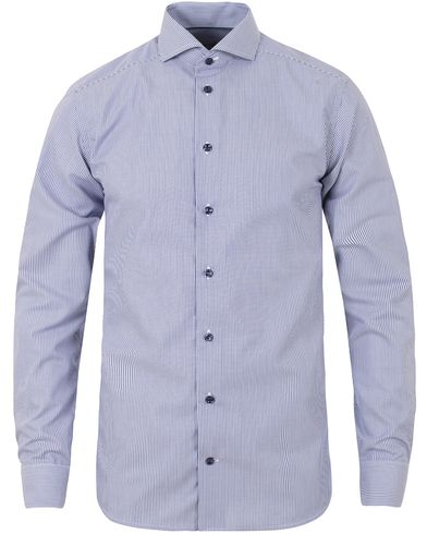Eton Slim Fit Poplin Stripe Shirt Blue i gruppen Skjortor / Formella skjortor hos Care of Carl (13283411r)