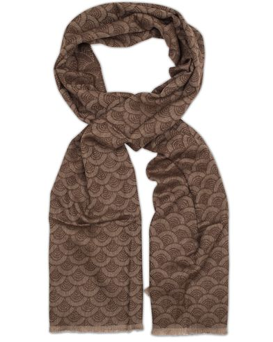 Eton Merino Woven Scarf Brown  i gruppen Assesoarer / Skjerf hos Care of Carl (13284510)
