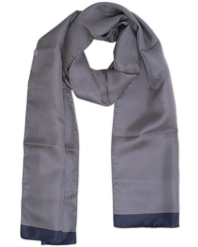 Eton Silk Micro Dot Scarf Navy  i gruppen Assesoarer / Scarves hos Care of Carl (13284710)