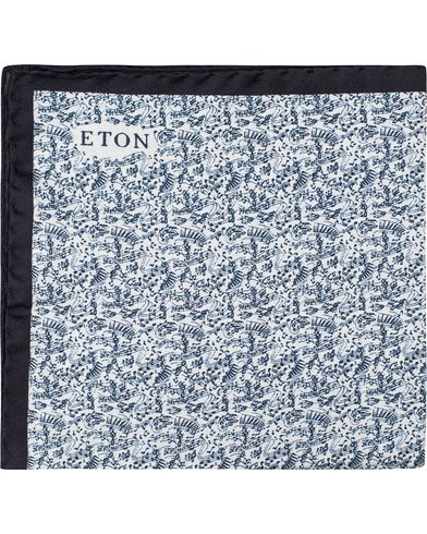 Eton Singnote Silk Pocket Square Blue  i gruppen Assesoarer / Lommetørklær hos Care of Carl (13286610)