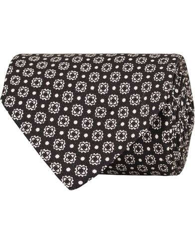 Eton Flower Silk 8cm Tie Black  i gruppen Assesoarer / Slips hos Care of Carl (13286710)
